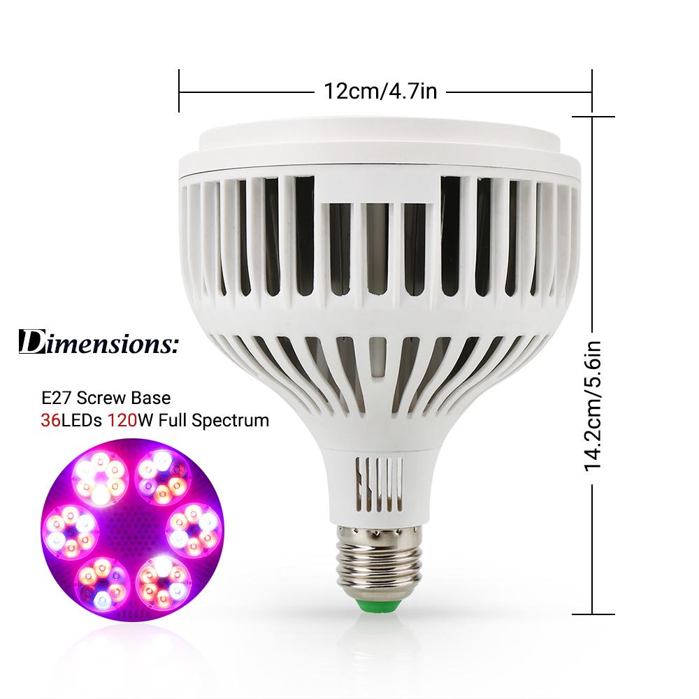 1-4X LED Grow Light Pflanzenlampe Pflanzenlicht Vollspektrum Blumen Leuchtmittel