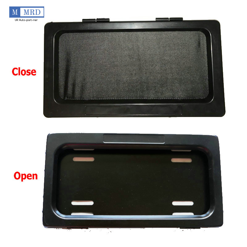 1x Hide-Away Shutter Cover Up Electric Stealth USA License Plate Frame w// Remote