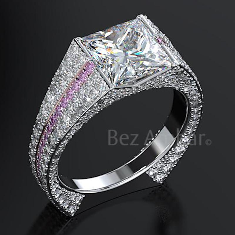 Infinity Women r Rings White Sapphire Jewelry Wedding Rings Size 6-12