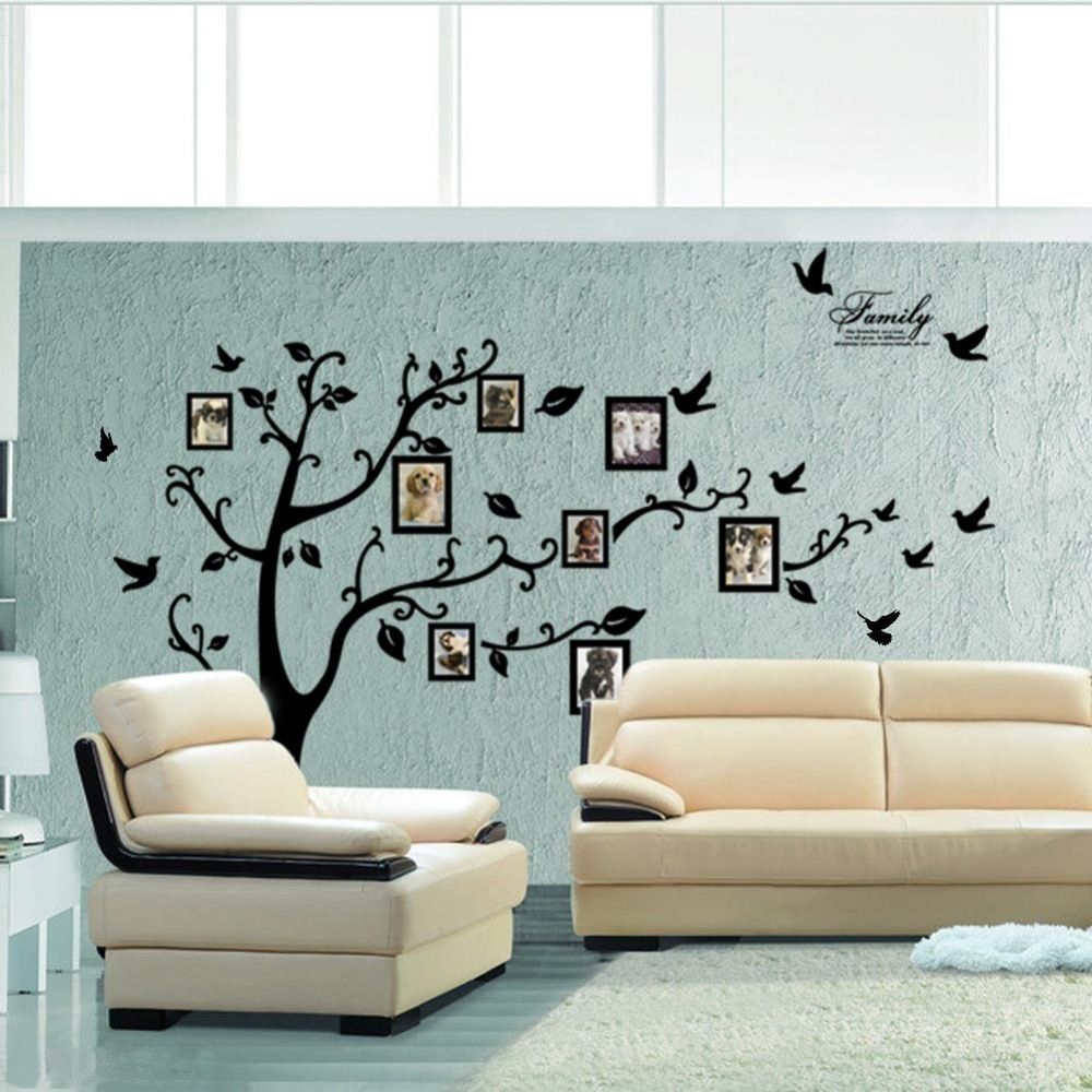 X large family tree birds photo frame quotes wall stickers art x large family tree birds photo frame quotes wall stickers art decals home decor amipublicfo Image collections