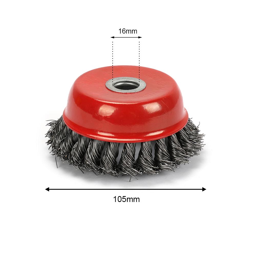 "2 4/"" Twist-Style Wire Cup Brush Wheel 8500 RPM"