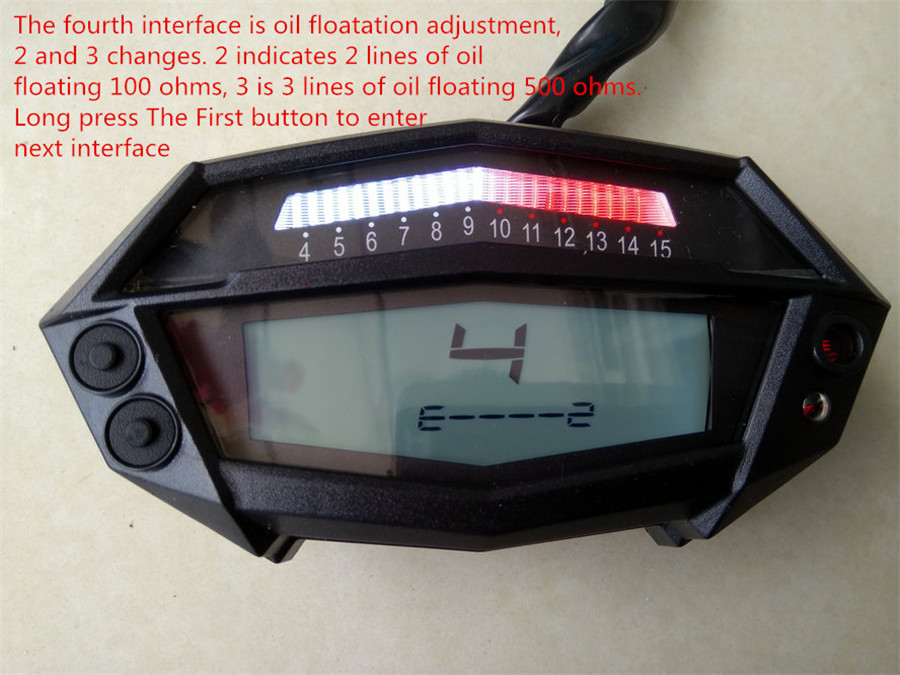 Lcd Digital Motorcycle Atv Speedometer Tachometer 1