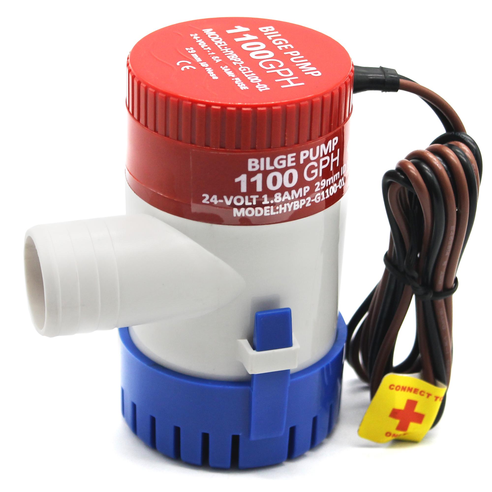 Iztor Marine Automatic Submersible Boat Bilge Water Pump 24V 1100 GPH Auto Float Switch