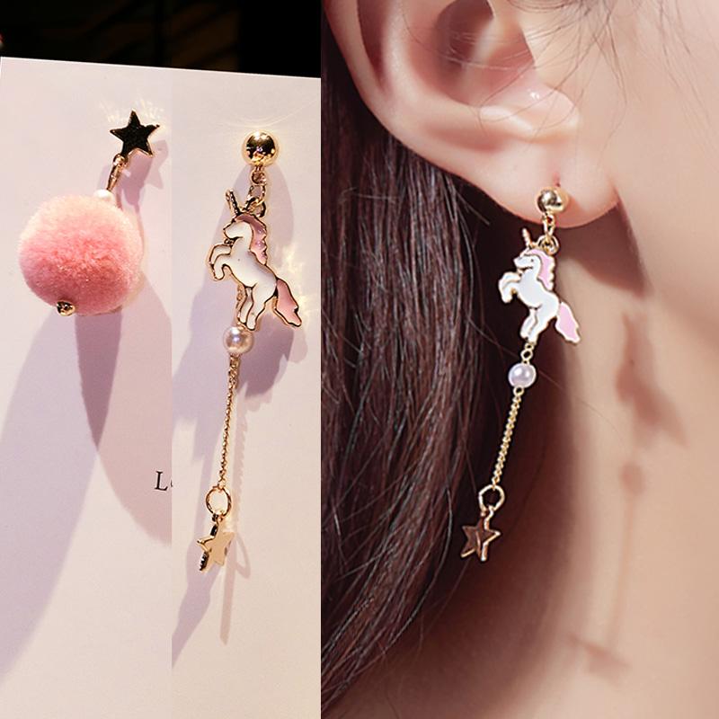 Soft Ball Pompom Long Earrings Drop Dangle Earring Women Ear Stud Jewelry L/_D