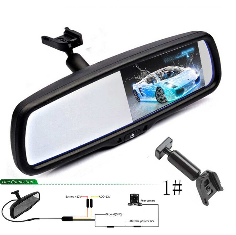 "Rear View Mirror Monitor Interior W// Bracket 4.3/"" for Ford Buick KIA Jeep Car"