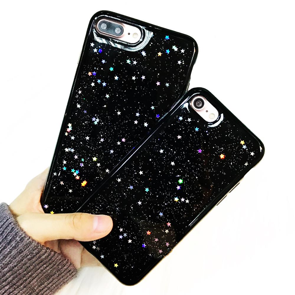 custodia iphone 7 silicone glitter