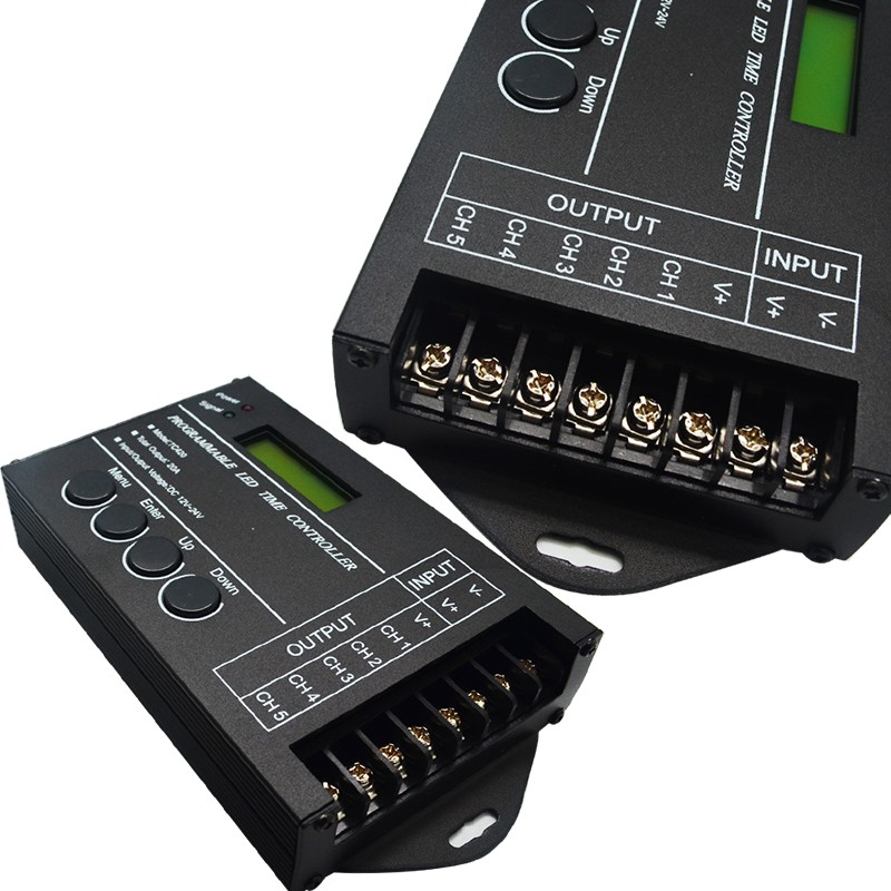 TC420 5Channel Time Programmable DC12V 24V RGB LED Controller LED Timing dimmer Specifications .