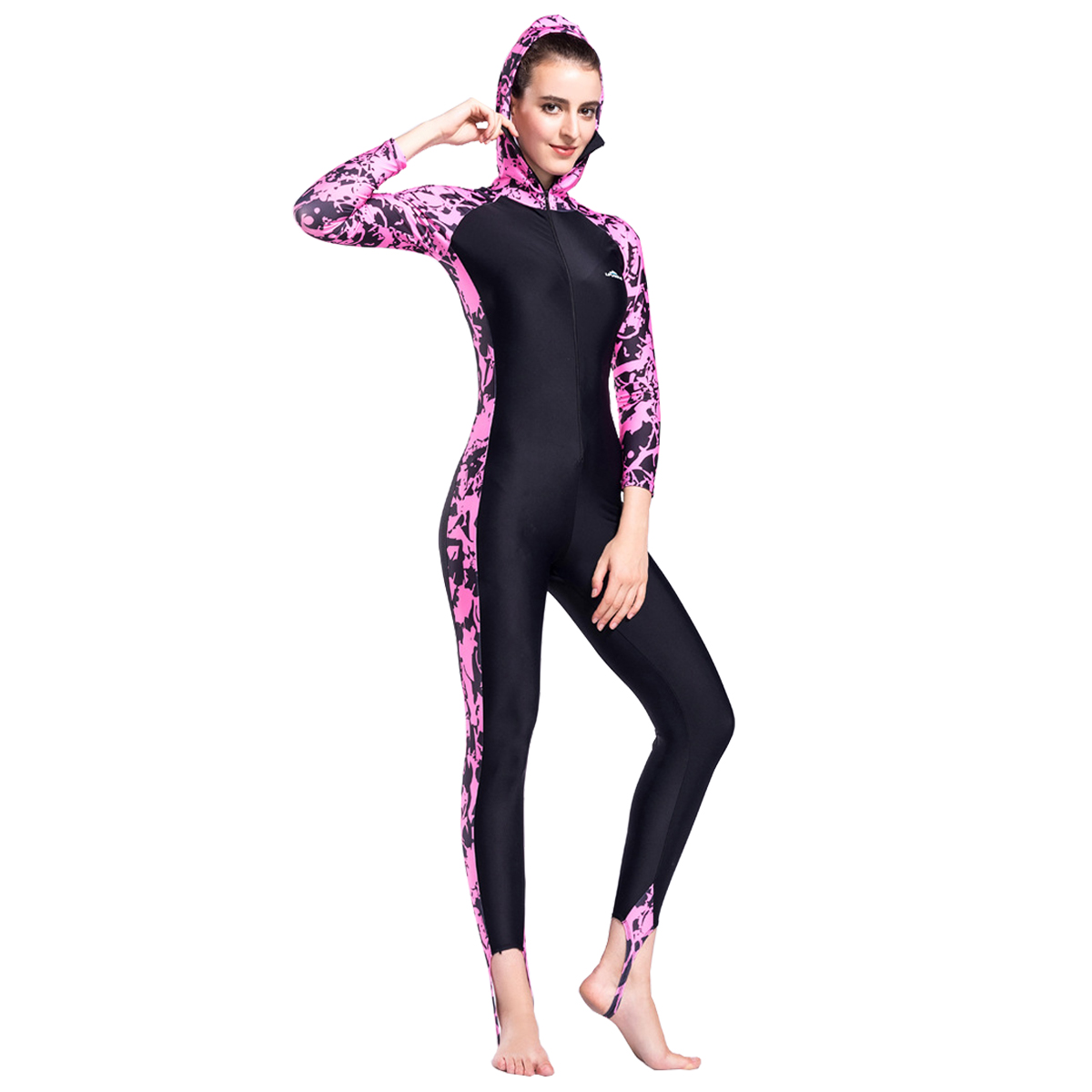 9ce2f93220 Details about Women One Piece Swimwear Long Sleeve Surfing Suit Rash Guards Full  Body Swimsuit