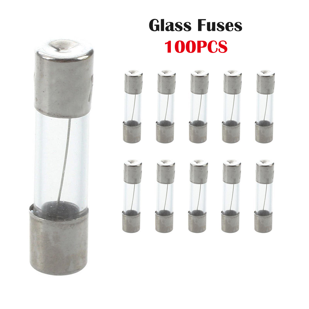 Pack of 10 x 20mm Fast Blow Glass Tube Fuses Quick Blow 100mA 20Amp