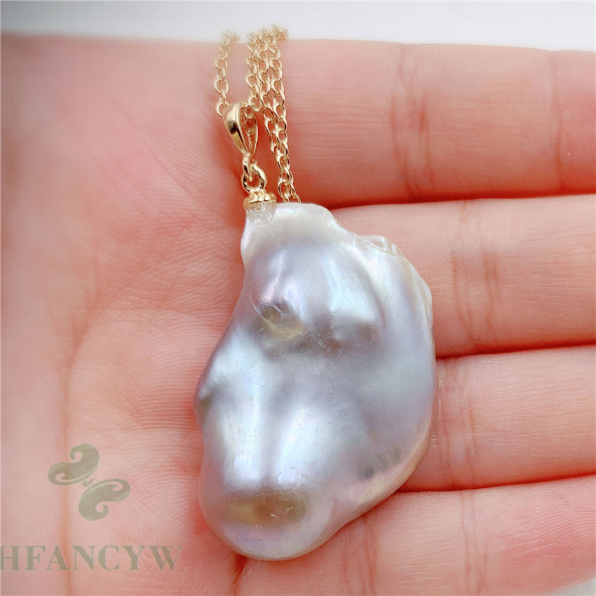 15-18MM Multi-Color Freshwater Petal Baroque Pearl Pendant Necklace accessories