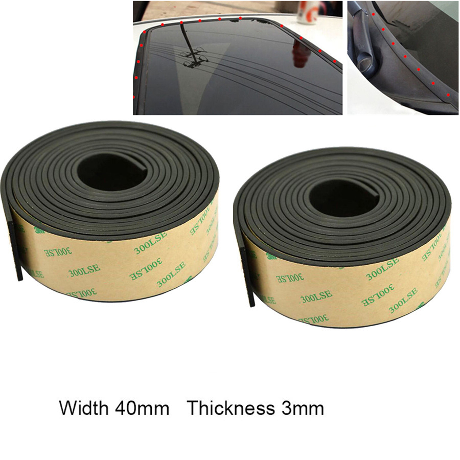 Universal 3m Car Sunroof Window Seal Strip Rubber Weather Stripping 40mm*3mm 1PC