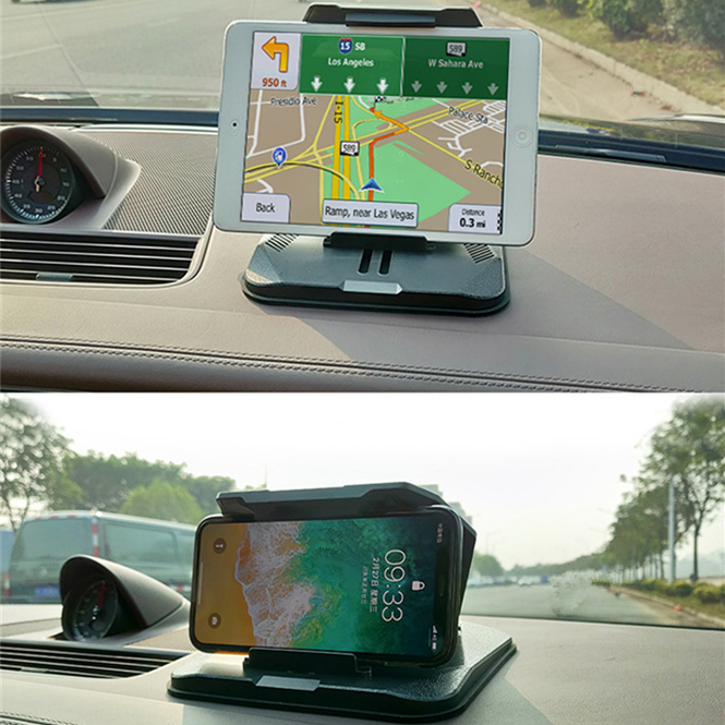 Car Phone Mount Durable Dashboard Silica Gel Anti-Slip car GPS Car Phone Holder Clip Holder Compatible Adjustable for Car iPhone Samsung and More
