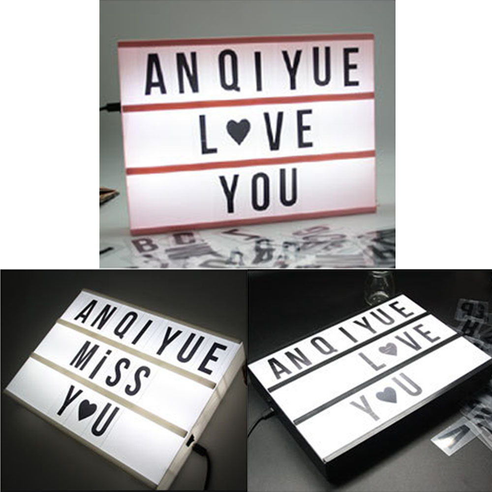 85x DIY Letters Cards of Light box Symbols Letters for LED Night Light Decor