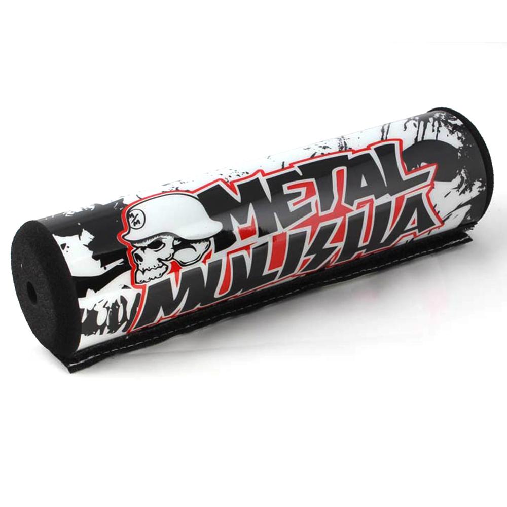 "7.9/"" Black/&White METAL DIRT BIKE Motorcyle Motorcross Handlebar Cross Bar Pad"