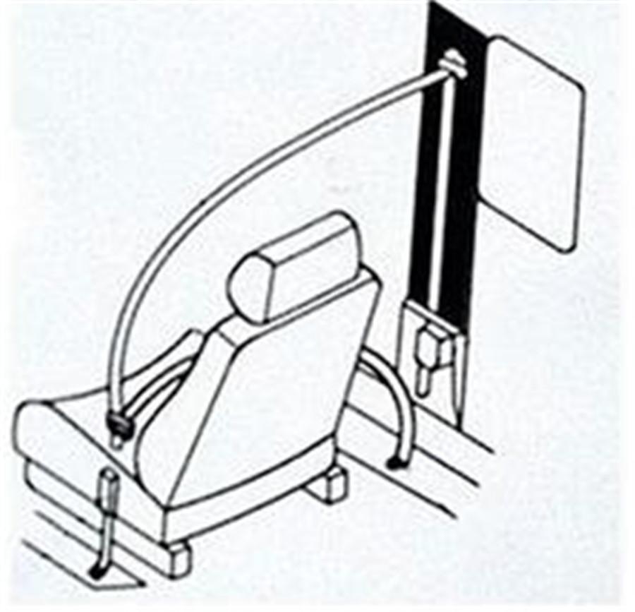 3 Point Retractable Car Safety Seat Belt Lap Diagonal Belt