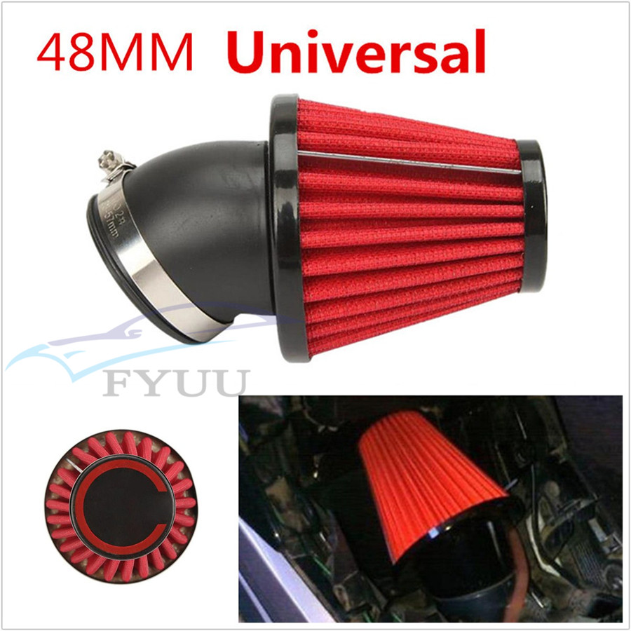 Dual Layer Air Filter 48mm ID for Motorcycle Pit Dirt Bike
