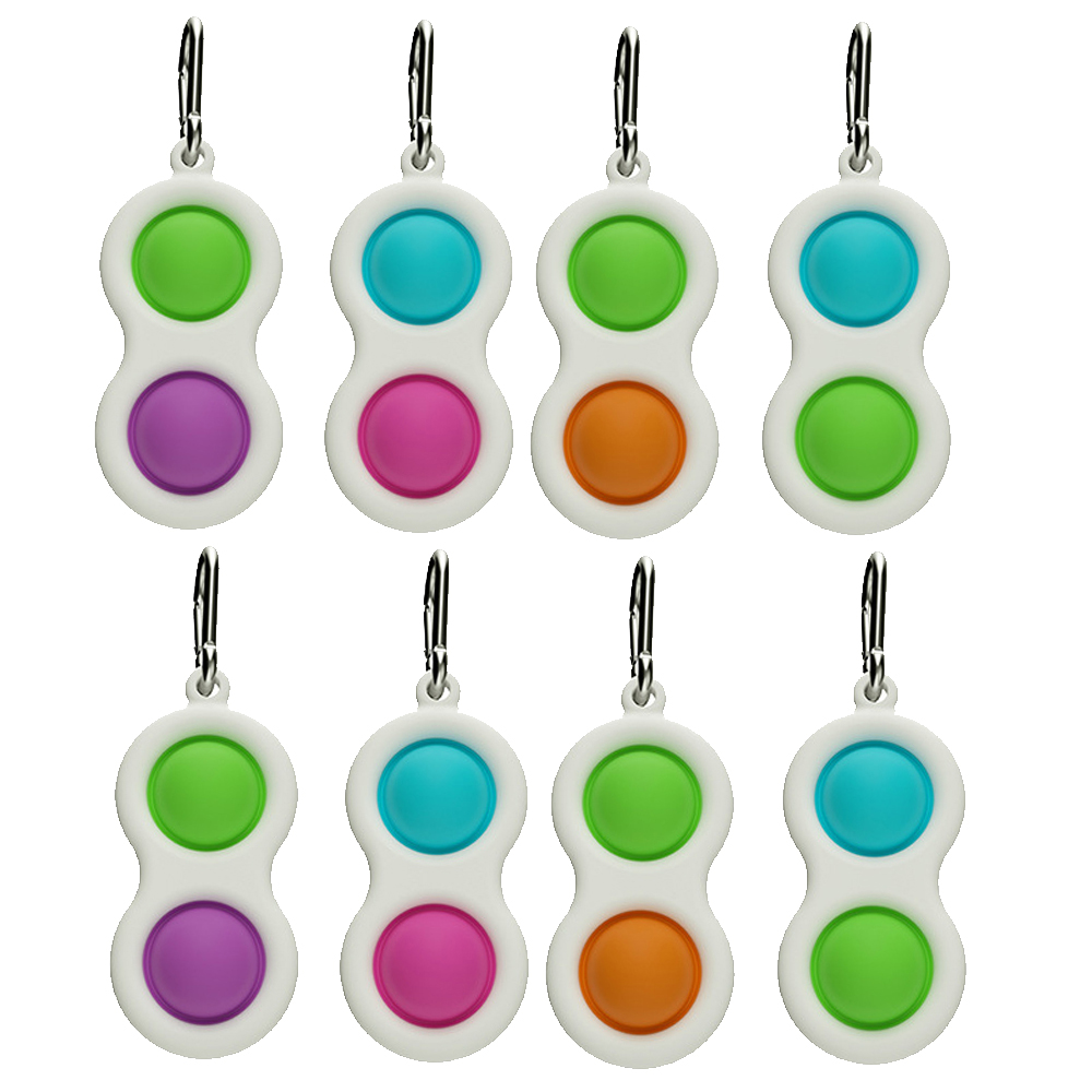Novelty Simple Dimple Fidget Toys Key Chain Stress Relief ...