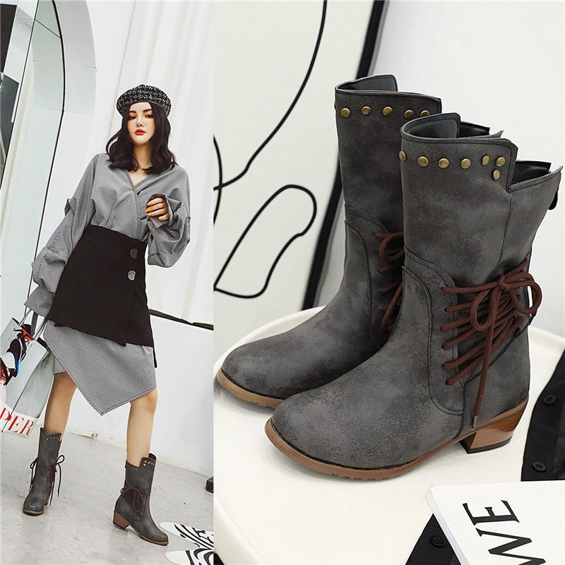 New Autumn Women Combat Boots Fashion