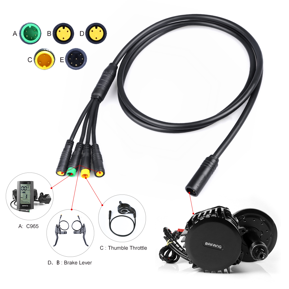 Higo EB-bus 1T4 Extension Cable for BAFANG Mid Drive Motor Conversion Kits Parts