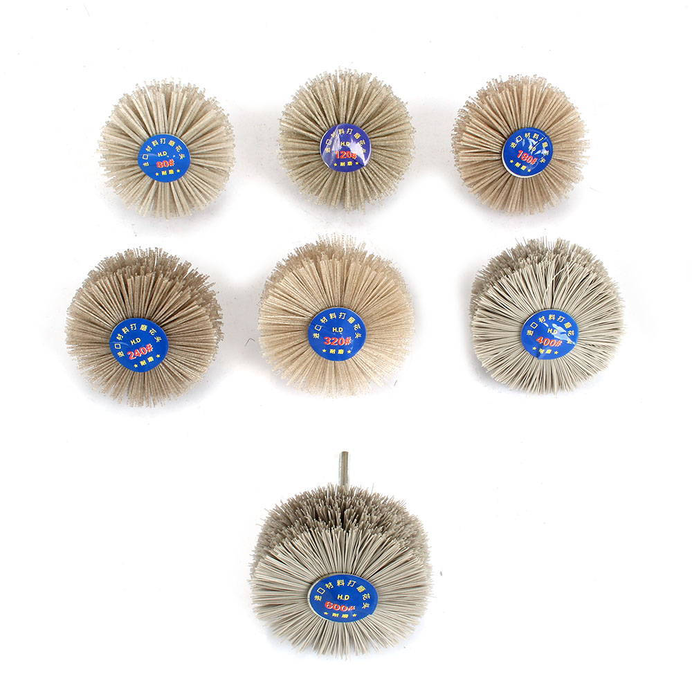 1pc 80mm Abrasive Nylon Wheel Brush Grinding Head 80-600 Grit Woodwork Polishing