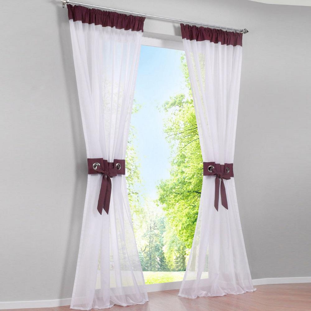 Gardinen vorh nge kr uselband wei wohnzimmer deko for Bildmotive wohnzimmer