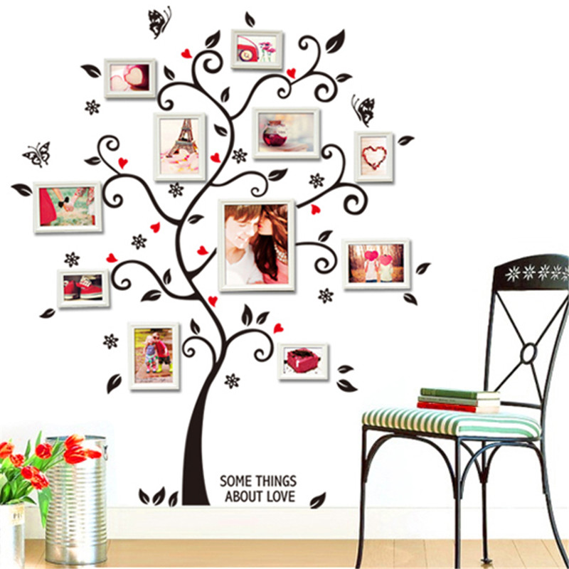 removable diy family tree wall sticker photo picture frame room