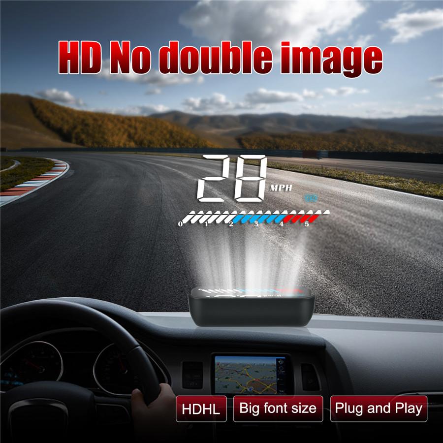 Universal HUD Head-Up Display OBD+GPS Dual System Car Speed