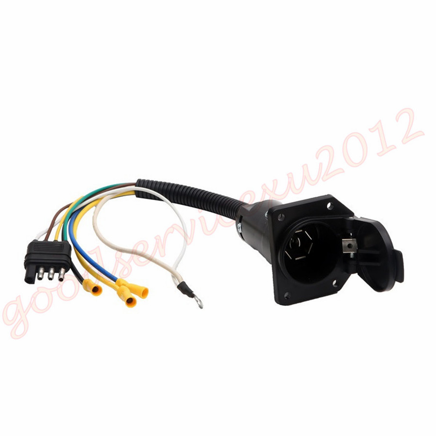 Car Suv Trailer Wiring Adapter Plug 4pin Flat To 7pin