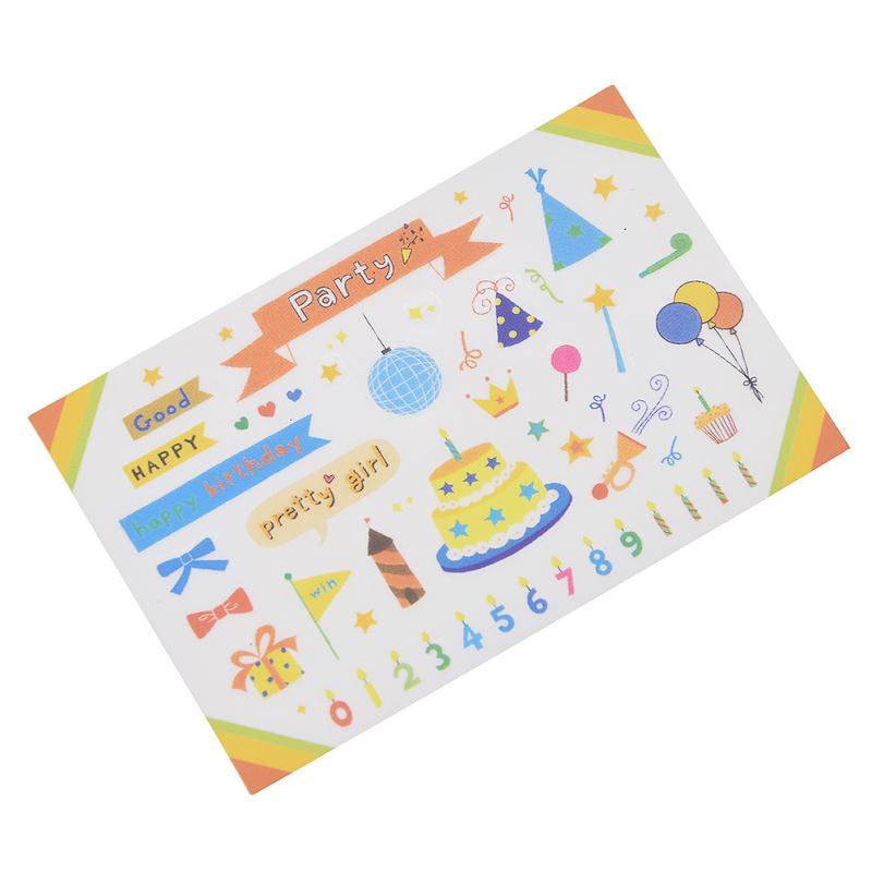 DIY Aufkleber Farbig Deko Party Geburtstag Motiv Sticker Scrapbooking Basteln
