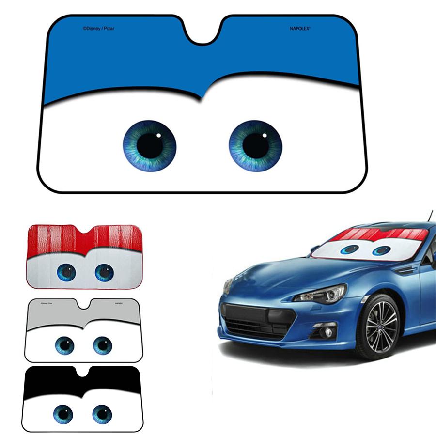 universal blau cars augen sonnenblende sonnenschutz frontscheibe alu 130x70cm ebay. Black Bedroom Furniture Sets. Home Design Ideas