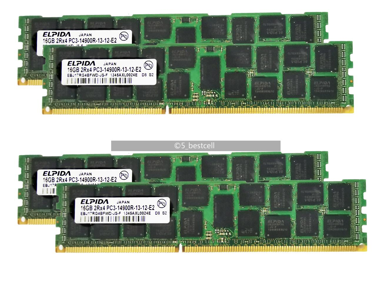 Samsung 4x16GB DDR3 1866mhz Registered RAM PC3-14900R ECC Server REG Memory 2RX4