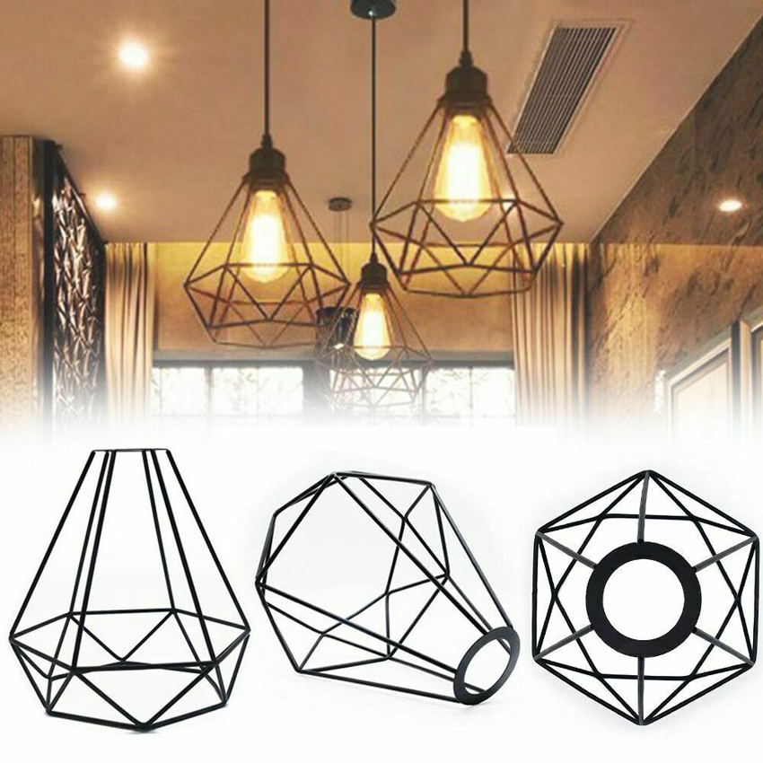 Cage Shade Pendant Covers Home Ceiling Decoration Light Retro Metal Accessory Ebay