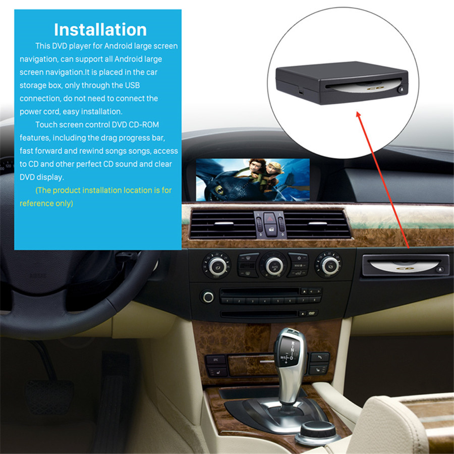 1Din HD Car Radio CD/DVD Player External Android Stereo