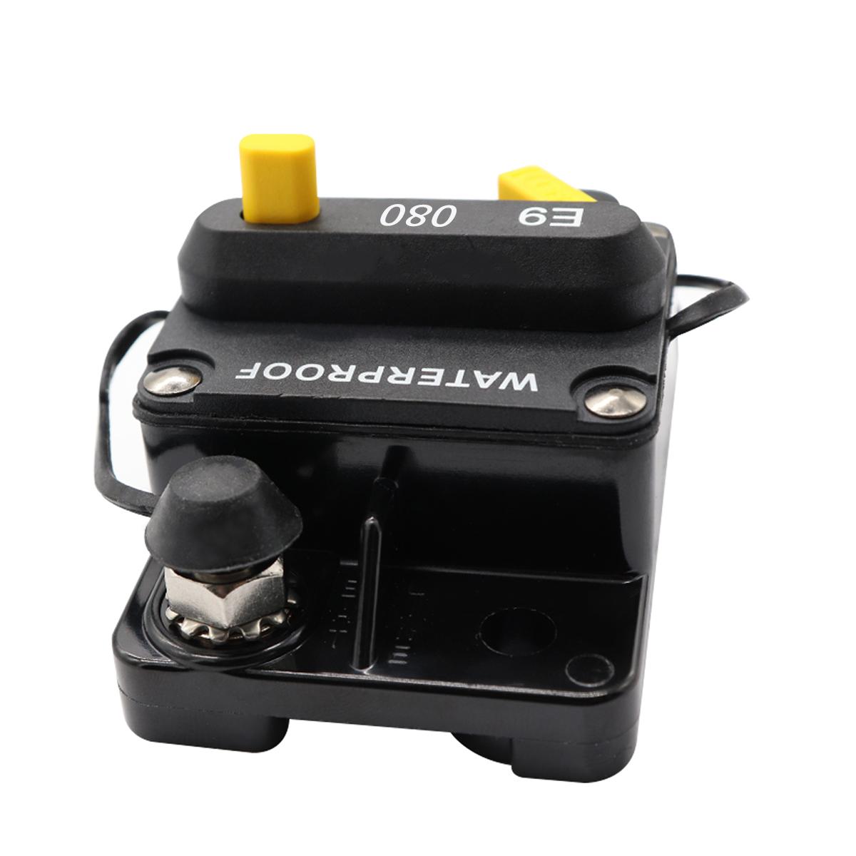 80a Amp Circuit Breaker Dual Battery Ip67 Waterproof 12v 24v Fuse Manual Reset 680666743116