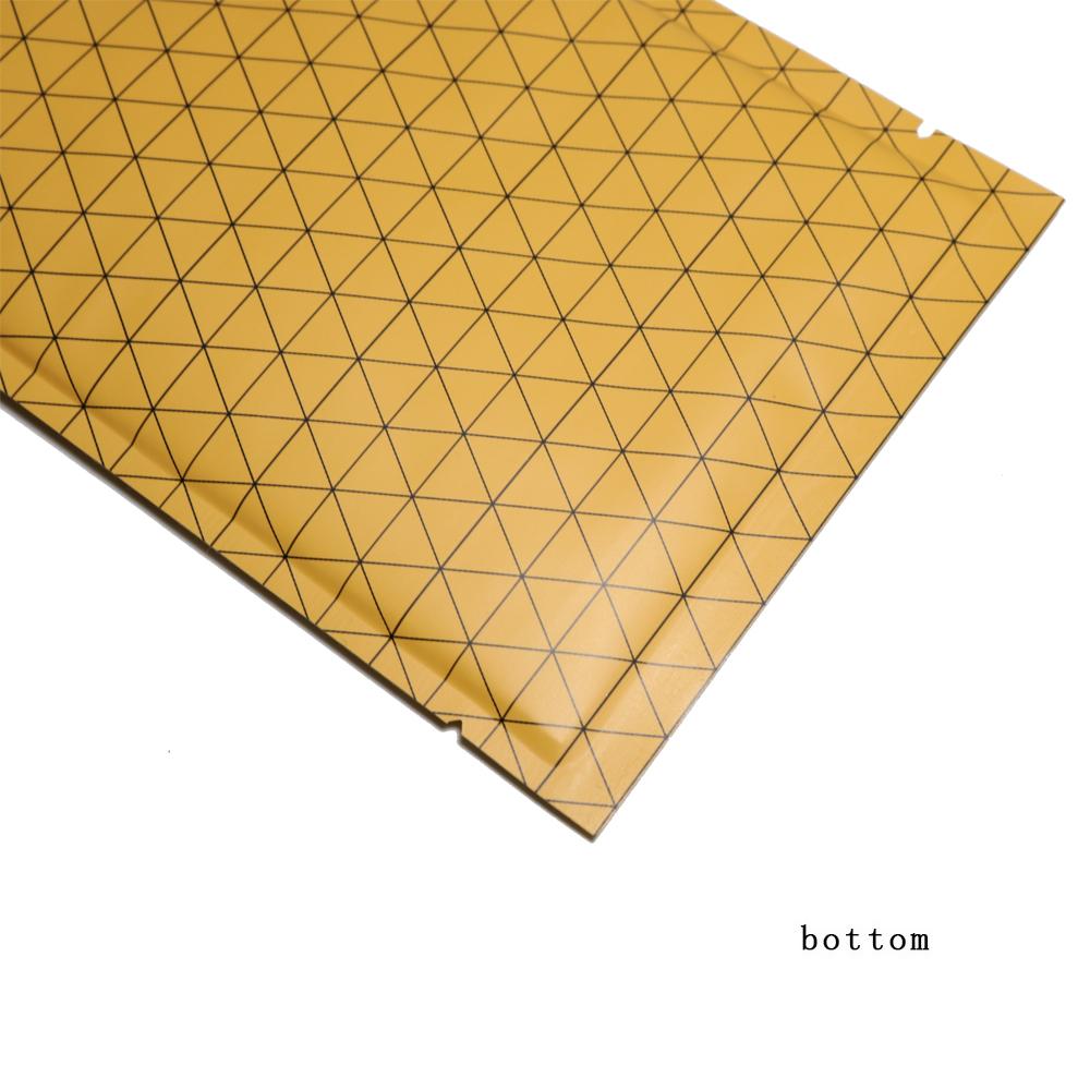 840e23506 4x4in Orange Silver Aluminum Foil Open Top Pouch Bag w/ Silica Gel Desiccan  GO3