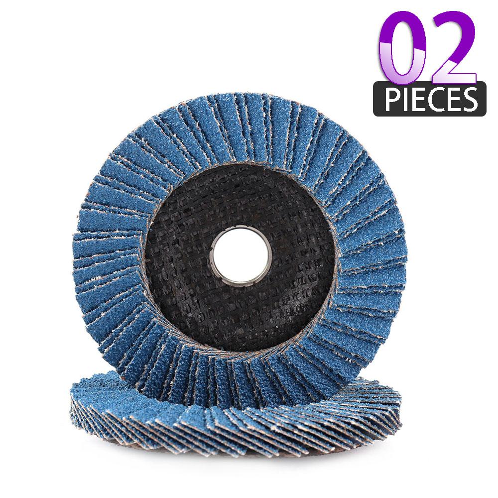 10pcs 40 Grit 4.5/'/' Zirconia Angle Grinder Flap Disc Abrasive Sanding Wheels Kit