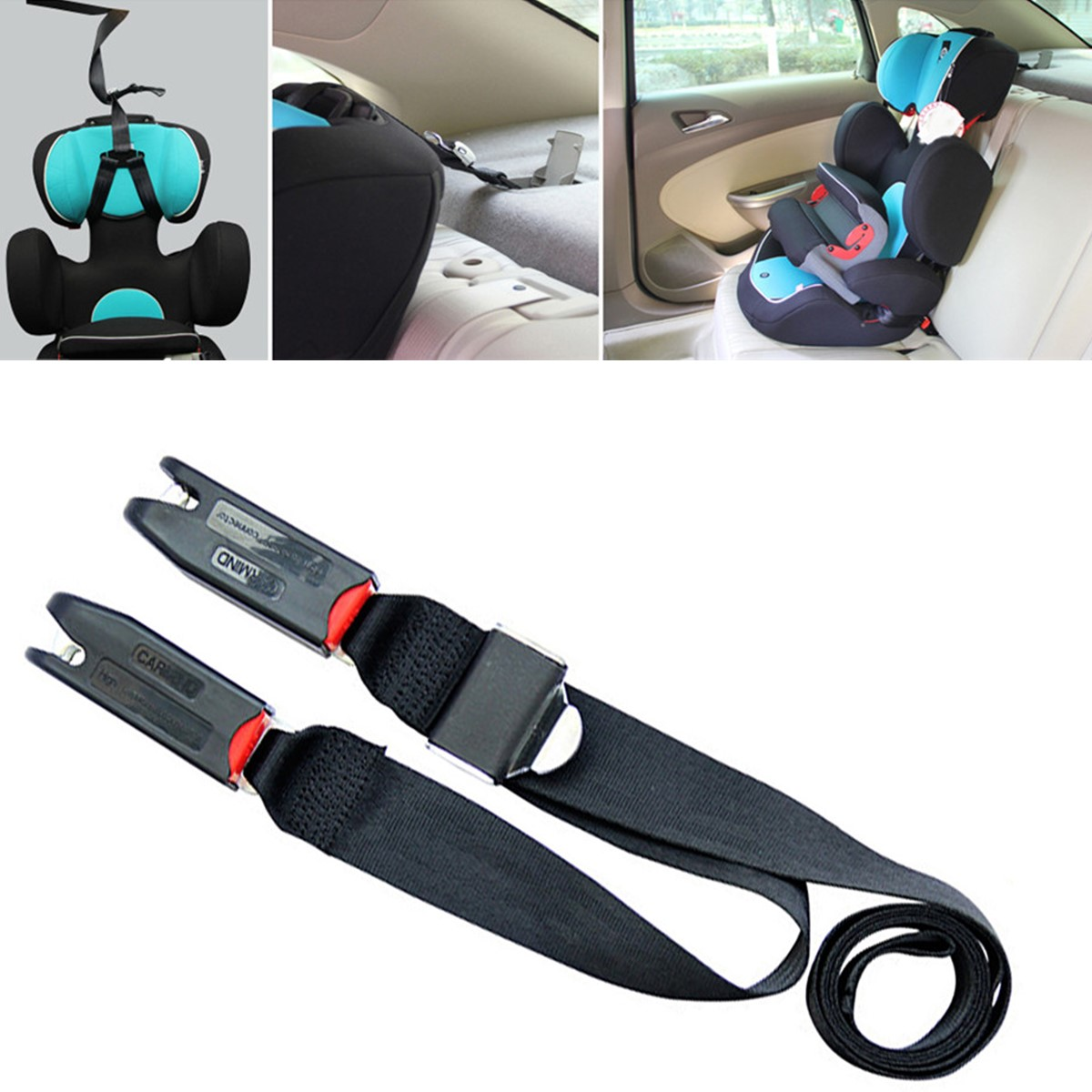 isofix latch belt connector interface baby car seat anchor top tether bottom ebay. Black Bedroom Furniture Sets. Home Design Ideas