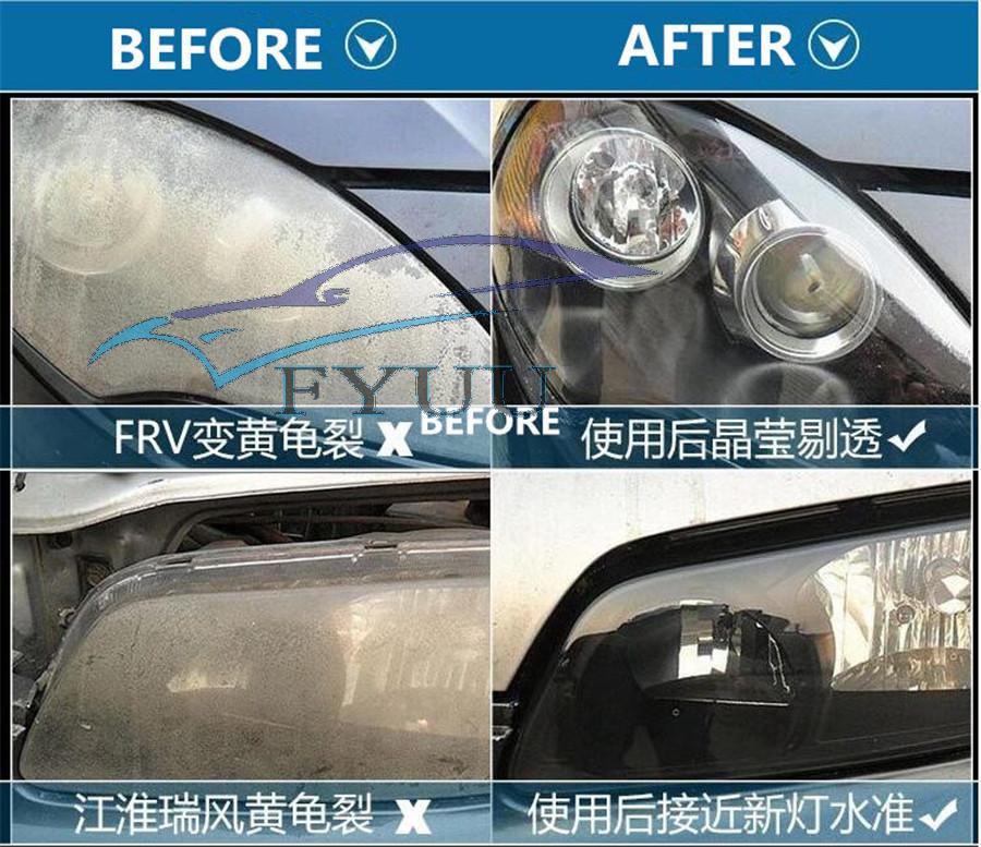 Car Truck Headlight Lens Clear System Heating Atomized Cup Repair Restore Kits
