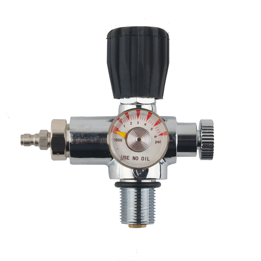 """PCP Charging Valve Air Filling Station Refill Adapter 6000psi Gauge/&24/"""" Hose US"""