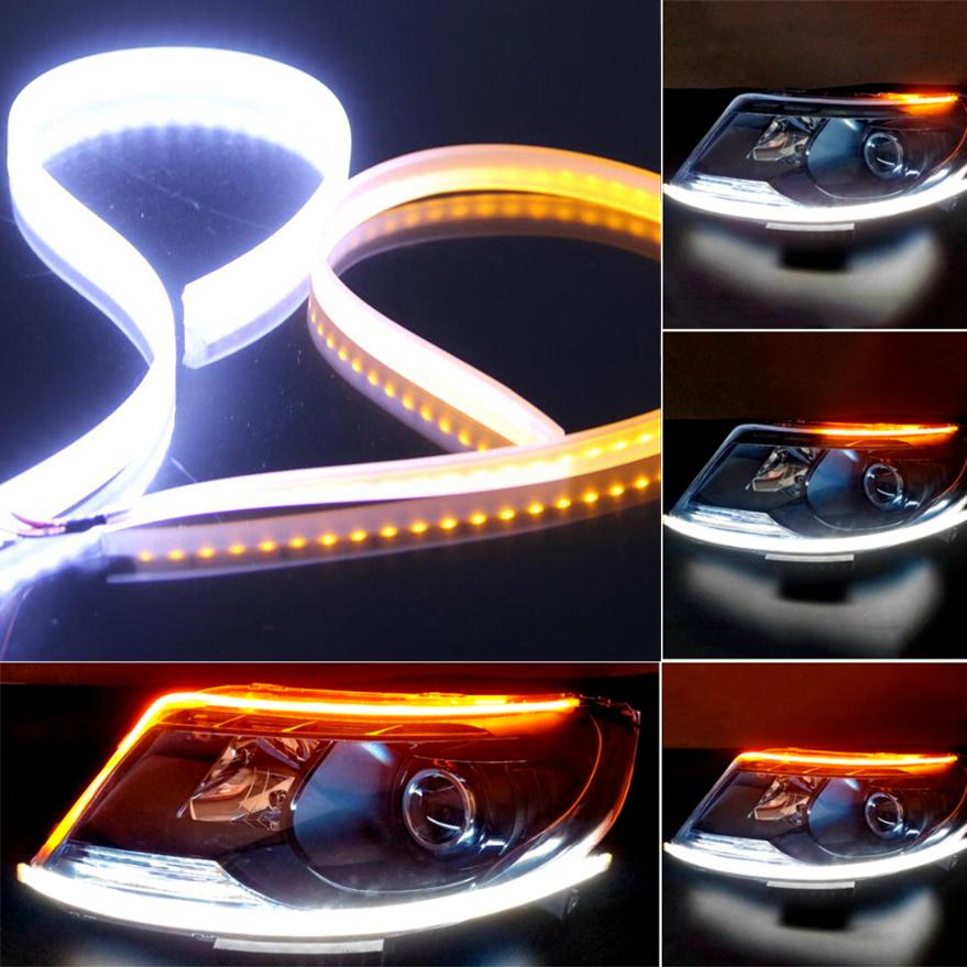 2x 60cm auto led blinker streifen fahr scheinwerfer signal. Black Bedroom Furniture Sets. Home Design Ideas