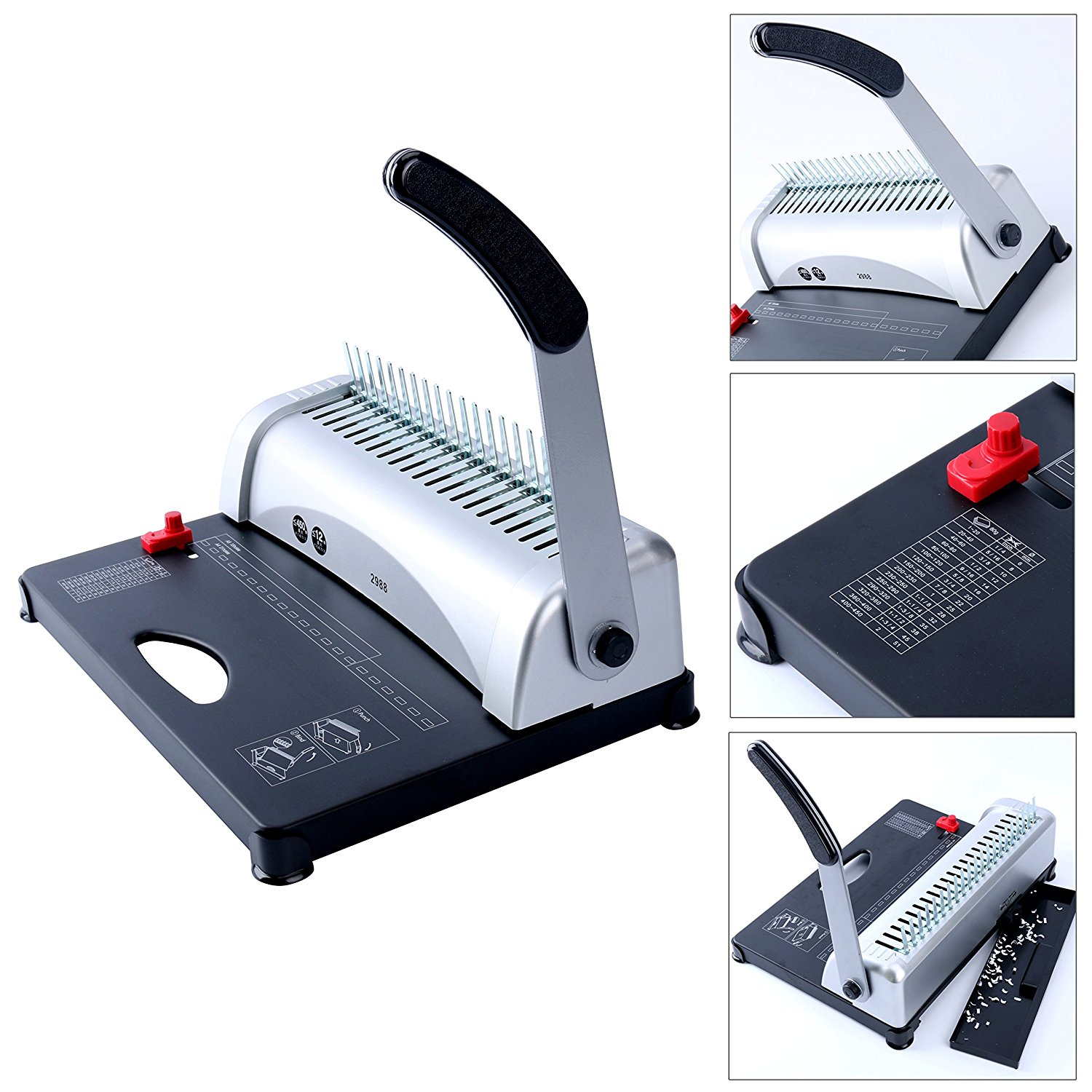 21-Hole 450 Sheets Binding Machine Paper Comb Punch Binder