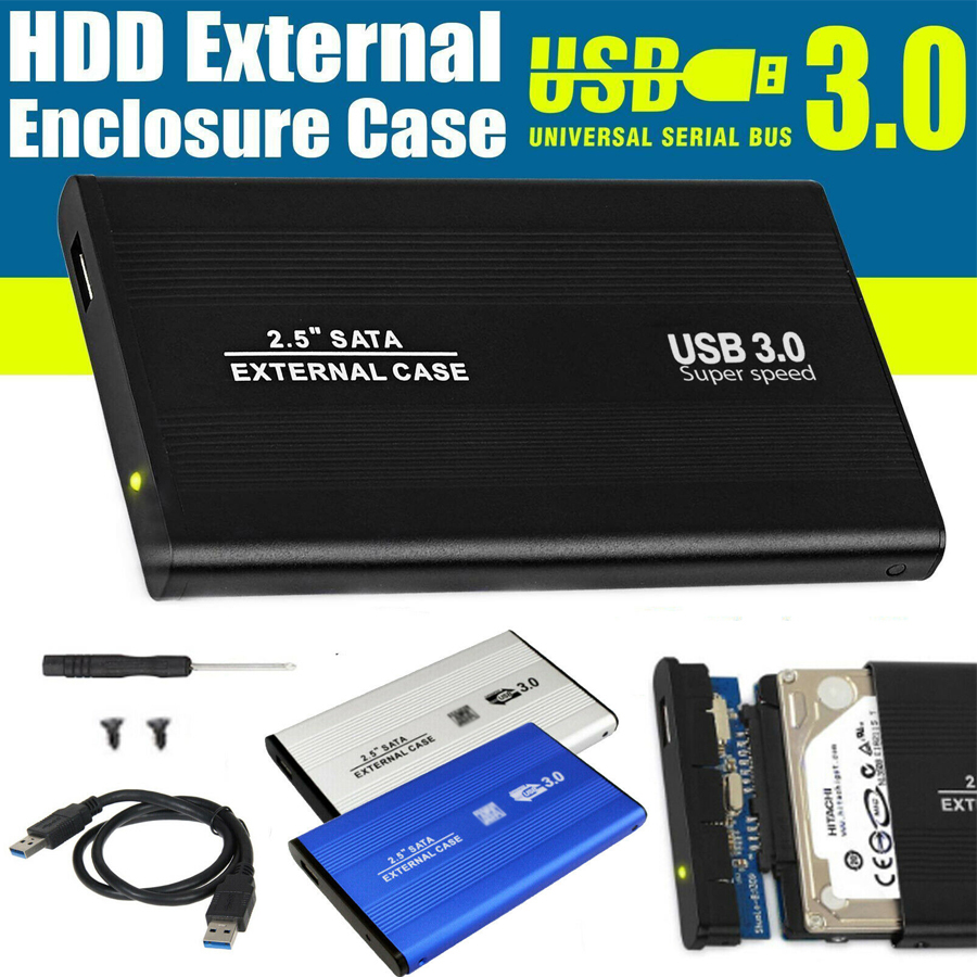 Portable 2.5 inch USB 3.0 SATA Hd Box HDD Hard Drive External Enclosure Case
