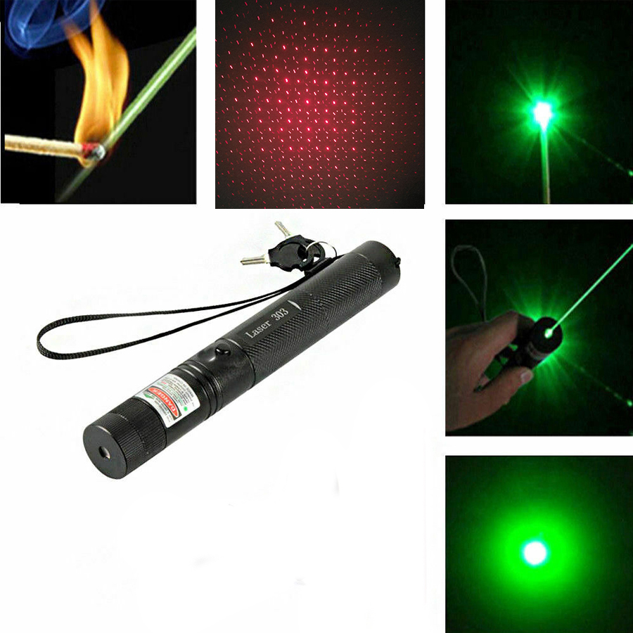Powerful Military 303 Green Red Laser Bright Beam Burning Beam Lazer Pointer Pen