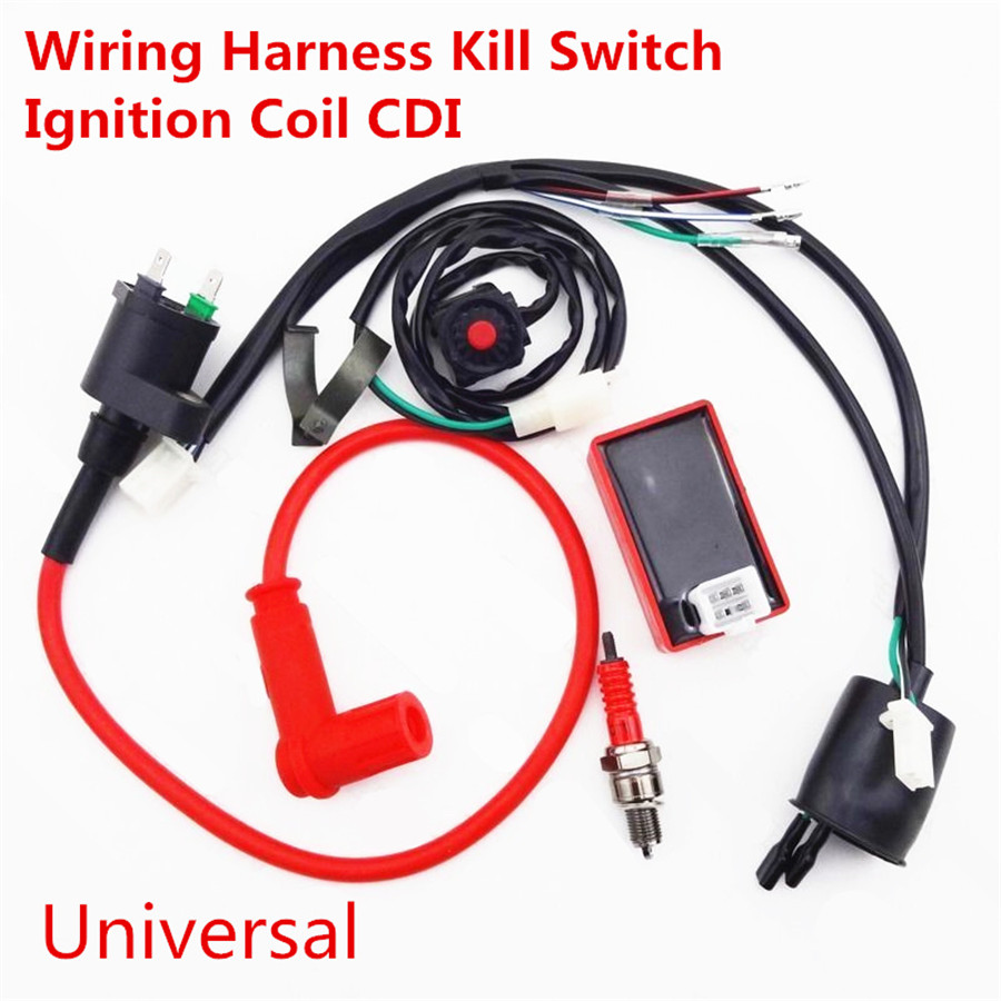 Motorcycle Wiring Harness Kill Switch Ignition Coil Cdi Spark Plug 107 Atv Please Check Out Our Ebay Store For Dirt Bike Parts 2 Stroke Pocket Scooter And Other
