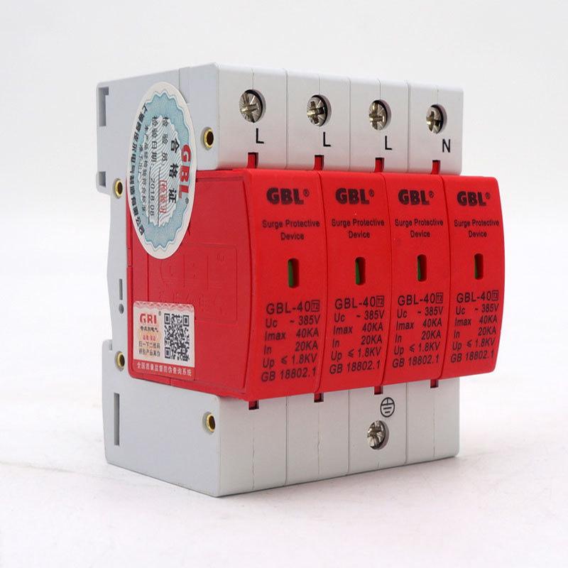 /Überspannungsschutz 4P Niederspannungs 420v 40KA-Dreiphasen Vierleiter Ableiterger/ät f/ür Blitzschutz