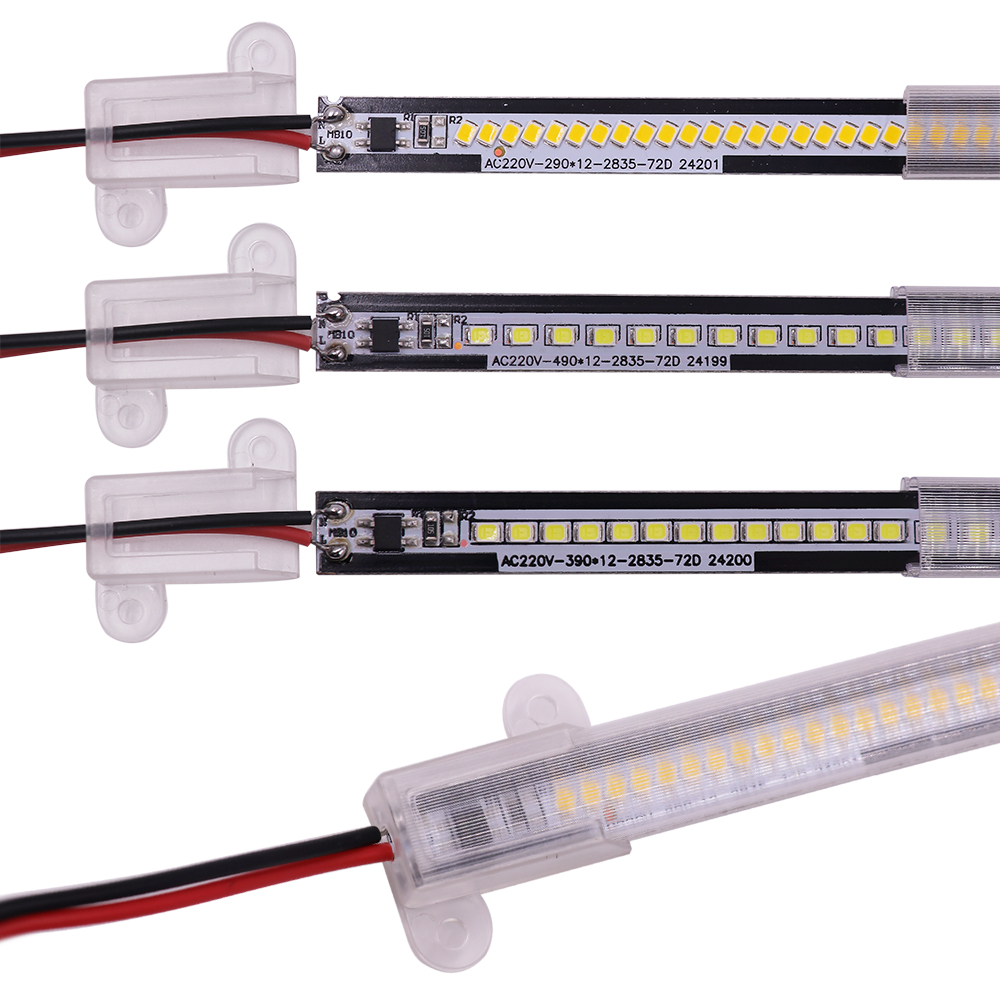 220V 30//50CM 2835 LED Starre Streifen Harte Bar Licht Schranklampe Wasserdicht