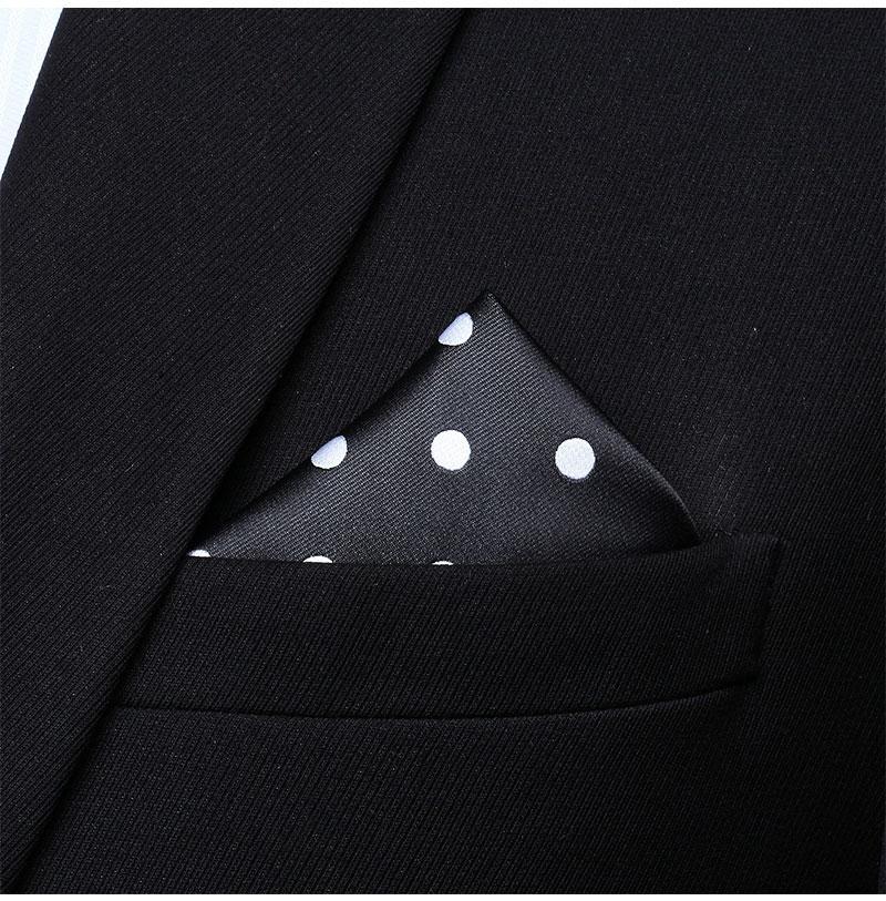 HD704U Burgundy White Dot Men 100/% Silk Party Handkerchief Pocket Square Hanky