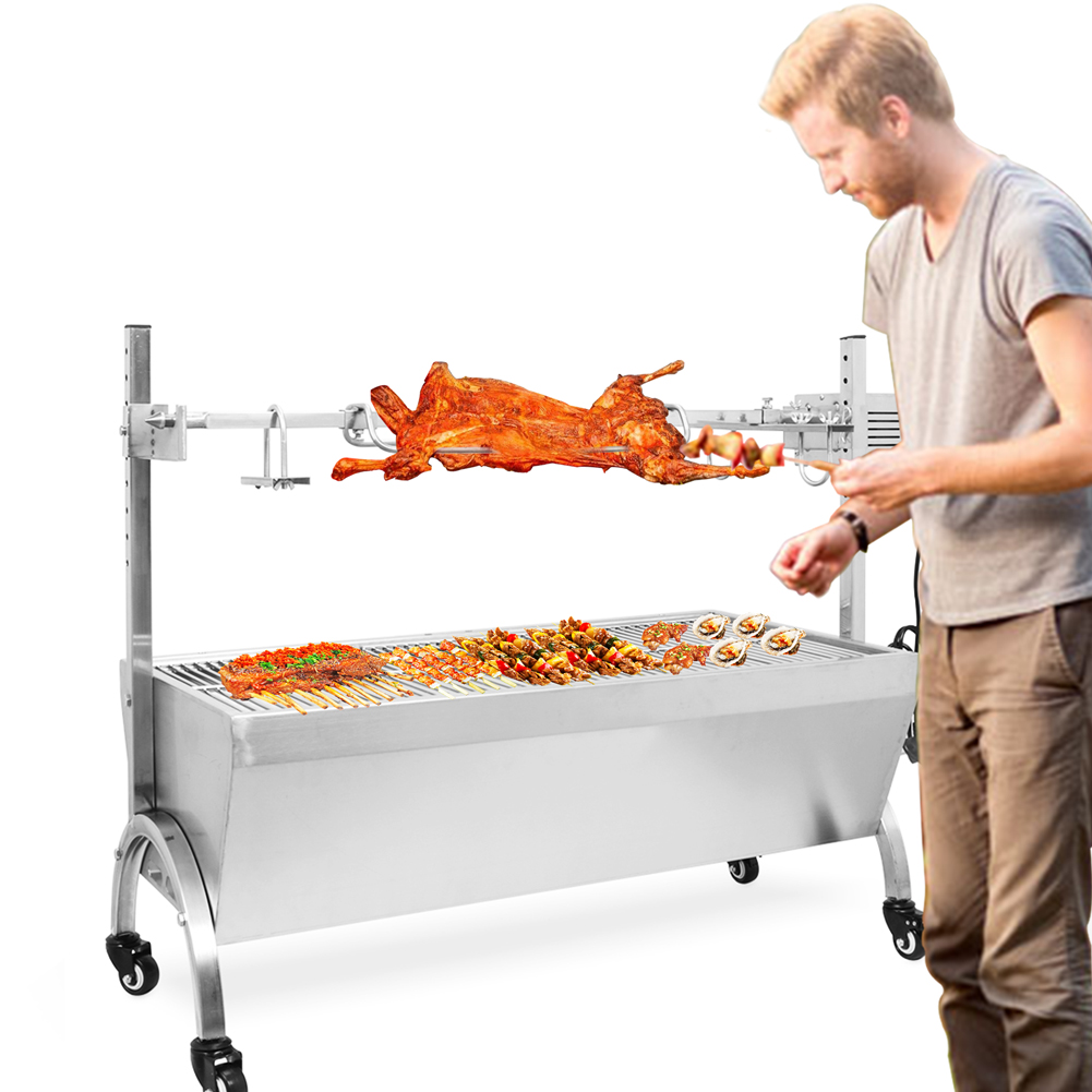 Automatic Barbecue Shelf Outdoor Electric Rotisserie Grill System Rotisserie Kit Grill Tools Accessories for Camping Picnic