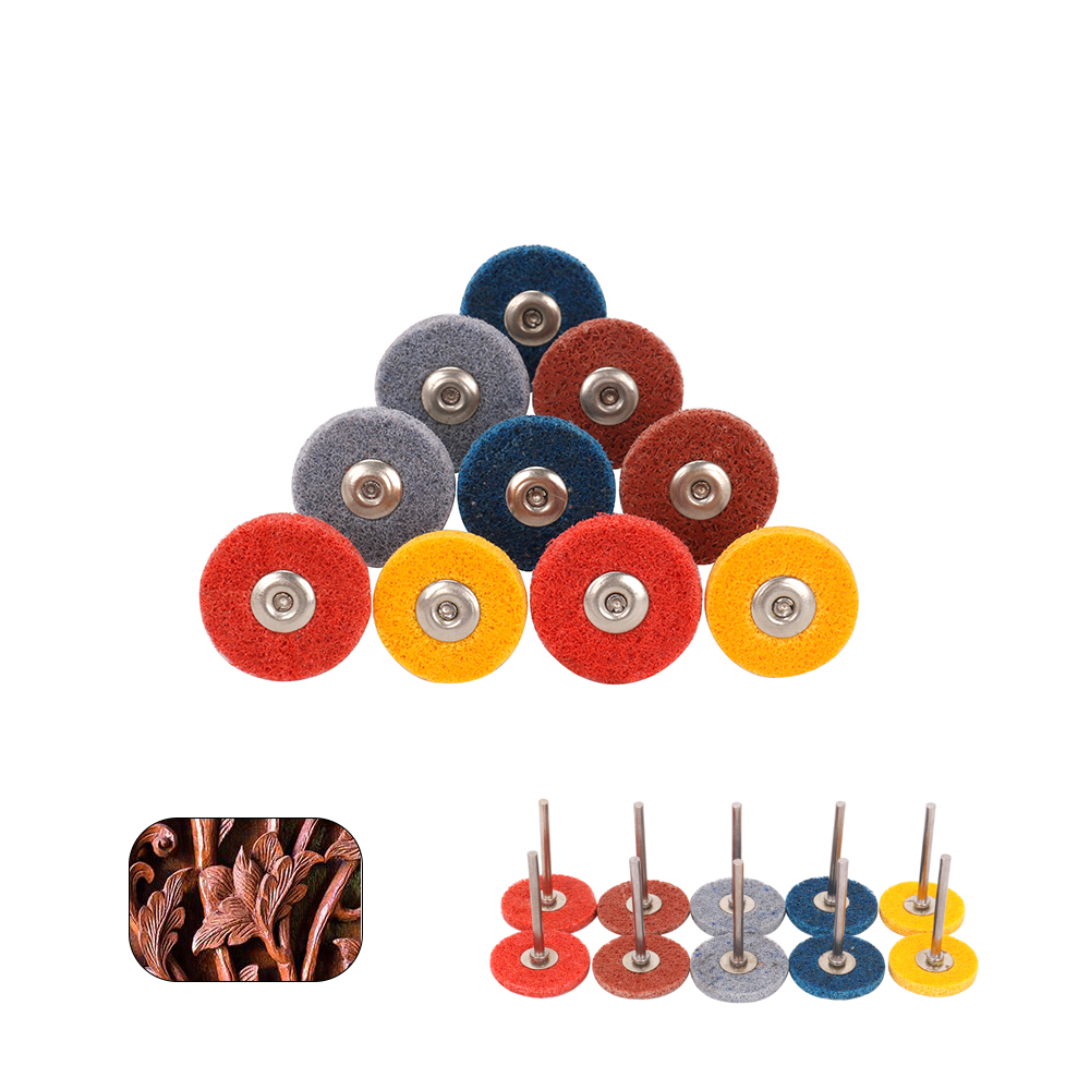 "Nylon Fiber Grinding Head 240~1500# Polishing Wheel Rotary Tool 1//8/"" Shank 10Pcs"