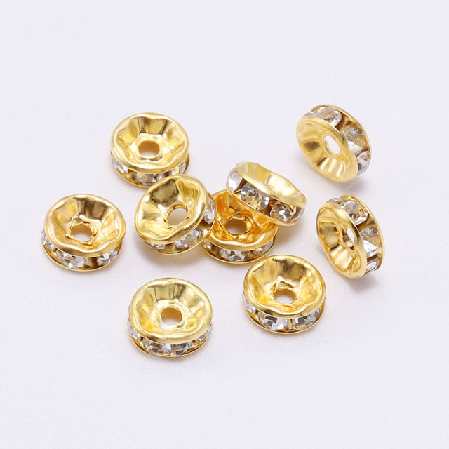 Wholesale 50Pcs Crystal Glass Washer Faceted Loose Spacer Beads À faire soi-même 8x6mm